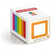 MAGFORMERS Square Solid (12 Piece) Building Set, Rainbow