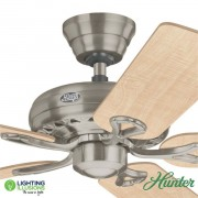"Brushed Nickel Hunter Savoy 52"" 1320mm Ceiling Fan"