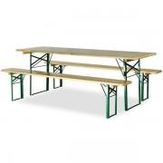 Rolléco Ensemble bancs et table de brasserie avec pieds profilés Profondeur 800 mm