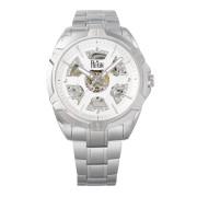【75%OFF】Carlisle スケルトン ステンレスベルト ウォッチ シルバー ファッション > 腕時計~~メンズ 腕時計