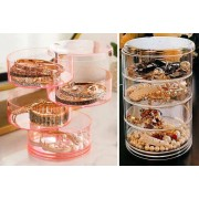 Flybuddy Ltd - Magic Trend £6.99 for a rotating four-tier accessories organiser in pink, blue or white from Magic Trend!