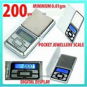 Jewellery Mini Electronic Weighting Scales 200g/0.1g Pocket Precision Digital