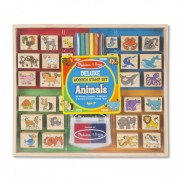 Set stampile din lemn Animale Deluxe Melissa and Doug