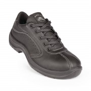 Lites Safety Footwear Lites Side Perforated Lace Up Black 40 Size: 40