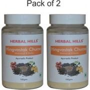 Herbal Hills Natural Hingvastak Churna blend 100gms powder - Pack of 2 - Acidity cure