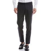 【30%OFF】ウィンドーペン フロントタブ センタープレス パンツ グレー 52 ファッション > メンズウエア~~パンツ
