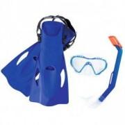 Комплект за гмуркане с плавници BESTWAY Hydro Swim 25025 - син, BW25025-blue