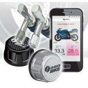 Sistem Performant FOBO TPMS Bike Combo pentru Motociclete sau ATV de Monitorizare a Presiunii si Temperaturii din Roti pe Telefon prin Bluetooth - 6 Bari + 2 Valve T CADOU