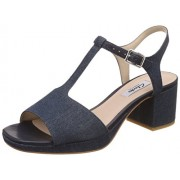Clarks Women's Floberry Ivy Denim Blue Leather Fashion Sandals - 4 UK/India (37 EU)