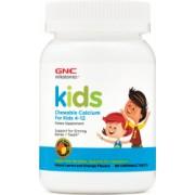 Supliment Alimentar GNC Milestones and reg Kids Chewable Calcium Calciu Pentru Copii 4-12 ani cu Aroma Naturala de Portocala si Lamaie 60 tb