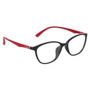 Zyaden Black & Red Rectangle Eyewear Frame 243