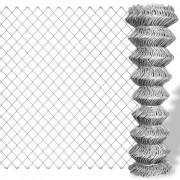 vidaXL Kedjelänk staket Galvaniserat 15 x 0,8 m