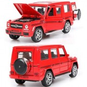 Mercedes-Benz AMG G 55 Die-Cast Metal Car with 4 Openable Doors Music Pull Back Action and Glowing Head and Tail Lights
