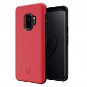 Patchworks Level ITG Case - хибриден удароустойчив TPU калъф за Samsung Galaxy S9 (червен)
