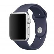 SERO Armband För Apple Watch I Silikon, 42/44mm,Midnight Blue
