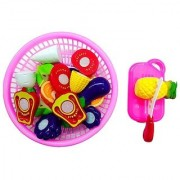 Akshata Realistic Sliceable Fruits and Vegetables Cutting Play Toy