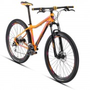 Alubike Bicicleta de Montaña R29 Rosa Anaranjado Alubike XTA Dim