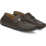 Clarks Davont Saddle Brown Tumb Loafers For Men(Brown)