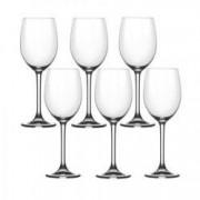 Pahar vin alb BOHEMIA CRISTAL FLAMENCO set 6 buc 305ml