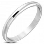 Ezüst színű, gravírozható nemesacél karikagyűrű-4
