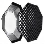 SOFTBOX plenerowy ośmiokątny 95cm typ BOWENS + grid - SZYBKI MONTAŻ