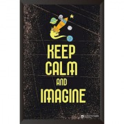 EJA Art Keep Calm And Imagine Poster (12x18 inches)