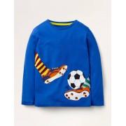 Mini T-shirt à appliqué loisirs BLU Garçon Boden, Blue - 6-7a