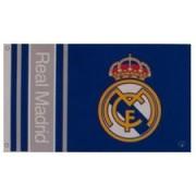 Real Madrid Vlag Logo - Blauw