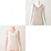 Stylemaker 胸元レース汗取付綿混タンクトップ2色組【QVC】40代・50代レディースファッション