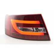 Set fari fanali posteriori TUNING sportivi AUDI A6, 2004-2008 berlina, LED LIGHTBAR rosso bianco per vetture a LED