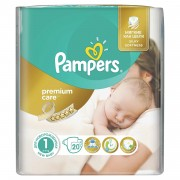 Scutece Pampers Premium Care New Baby nr.1, 2-5 kg, 20 bucati