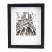 Xenos Fotolijst 3D met passe partout - zwart - 13x18 cm