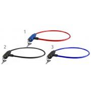 Cablu antifurt cu blocare si protectie siliconic pentru bicicleta, lungime 66cm