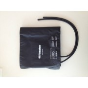 Brazalete para tensiometro Riester, negro, 2 tubos, adultos, muslo XL 100 x 26 cm. Perimetro 50 -70 cm (HASTA FIN DE EXISTENCIAS)