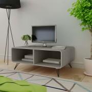 vidaXL Mesa de café/centro em madeira, 90 x 55,5 x 38,5 cm cinzento