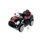 Mini Cooper Veículo Elétrico 2x1 Controle Remoto Preto Kiddo