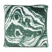Xenos Kussen marmer - groen - 45x45 cm