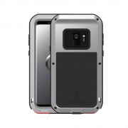 LOVE MEI Shockproof Dropproof Dustproof Case Cover for Samsung Galaxy S9 SM-G960 - Silver