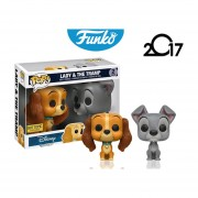 Pack 2 lady & the tramp Funko pop disney pelicula perros