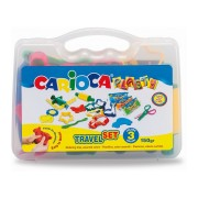 Kit plastilina 3 culori/set 150 g si 12 forme de modelaj CARIOCA Plasty