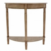 Decor Therapy Simplicity Half Round Oak Console Table, Oak Brown Sahara