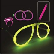 Chocozone Light up Toys Glow Goggles Stick Bracelet Ring Party Favors Supplies for Night Parties Pubs Discs (Pack of 2 Sets)