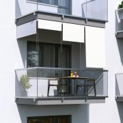 Jarolift Store Extérieur Vertical, Blanc, 140 x 140 cm