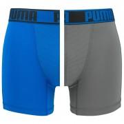 Boxershorts Active boxer 2-pack Blauw & Grijs
