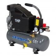 Compresor de aer Stager HM1010K, 6L, 8bar, 126L min, 220V, angrenare directa