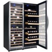 Vitrina de vinuri Nevada Concept NW285T-S, 285 sticle, 3 zone, negru/inox
