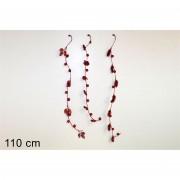 Decorazione natalizia stelo glitterato 110cm rosso 511424 649