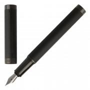 Boss Füllhalter Füller Hugo Boss Column HSG7882A Black Füllfederhalter Fountain Pen