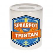 Bellatio Decorations Kinder cadeau spaarpot voor een Tristan