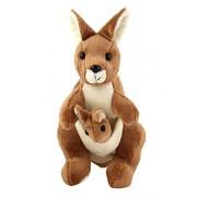 Vpra Mart Kangaroo Mother with Baby Stuffed Soft Plush Toy Kids Birthday 25 cm